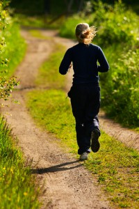 joggande kvinna